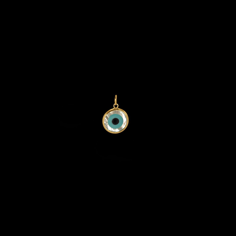 b33dd6324bc67 Pingente, OA, olho grego, madre pérola, 0,6 g - O live Joias . . Joias em  ouro 18K . . (53)3028-0100
